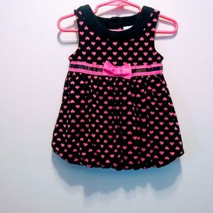 Girls Infant 12 mo. Bubble dress, Valentine's Day!